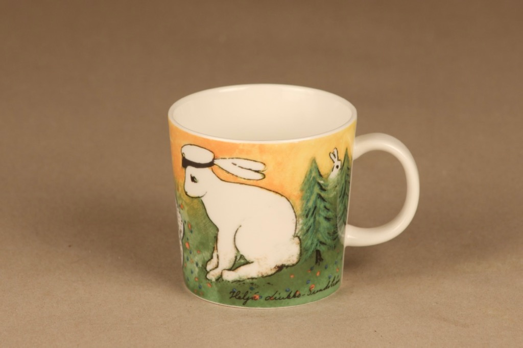 Arabia Teema rabbit mug Student designer Heljä Liukko-Sundström