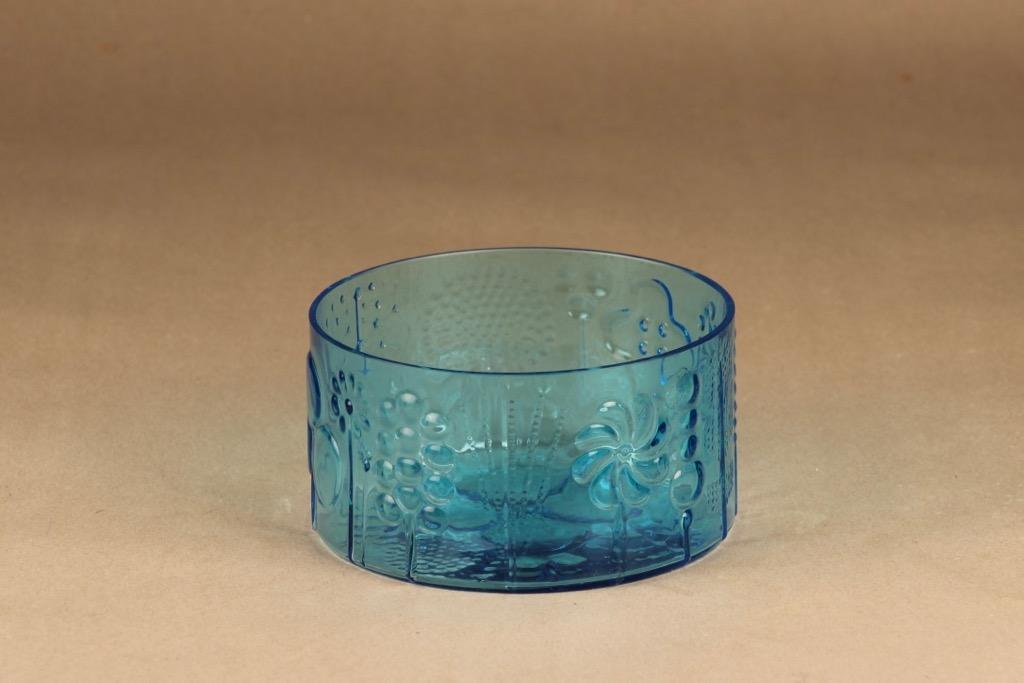 Nuutajärvi Flora bowl turquoise designer Oiva Toikka