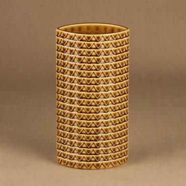 Arabia Harlekin maljakko, vaaleanruskea, suunnittelija Kaarina Aho,