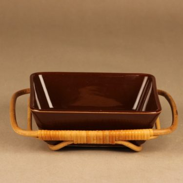 Arabia Kilta serving bowl with rattan designer Kaj Franck