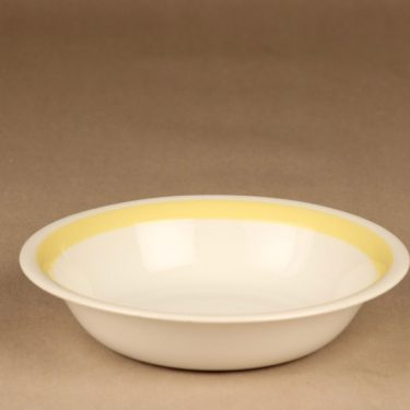 Arabia yellow-white soup plate designer Kurt Ekholm