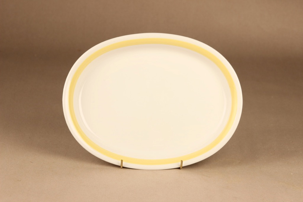 Arabia Yellow-white serving plate designer Kurt Ekholm