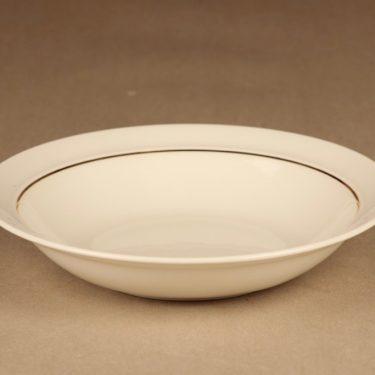 Arabia Harlekin Gold soup plate designer Inkeri Leivo