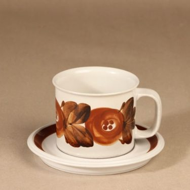 Arabia Rosmarin cacao cup, hand-painted designer Ulla Procope
