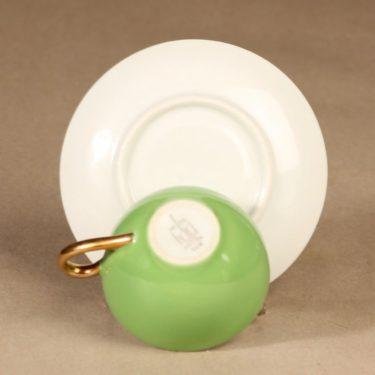 Arabia koristelematon mokkakuppi, vaaleanvihreä, suunnittelija ,  kuva 3