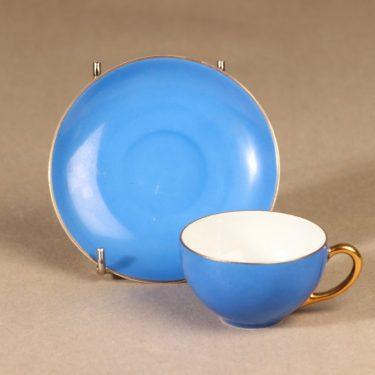 Arabia koristelematon mokkakuppi, sininen, suunnittelija ,  kuva 2