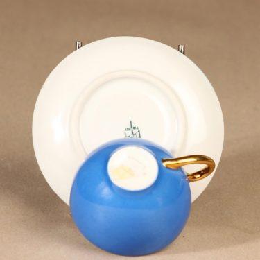 Arabia koristelematon mokkakuppi, sininen, suunnittelija ,  kuva 3