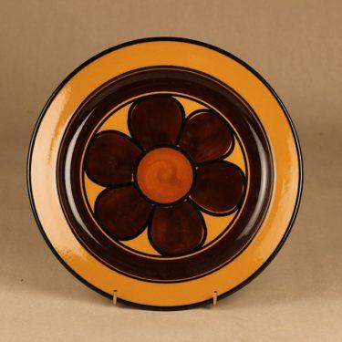 Arabia PW lautanen, käsinmaalattu, suunnittelija Anja Jaatinen-Winquist, käsinmaalattu, kukka