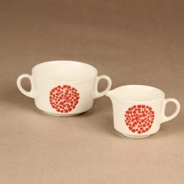 Arabia Takiainen ssugar bowl and creamer limited edition designer Raija Uosikkinen