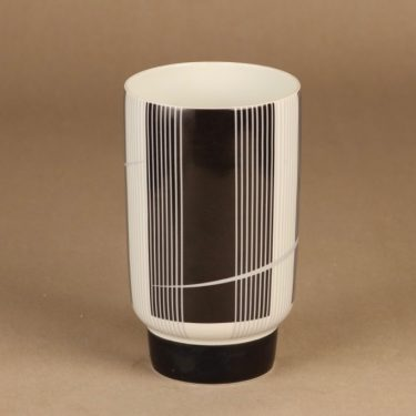 Arabia vase black/white
