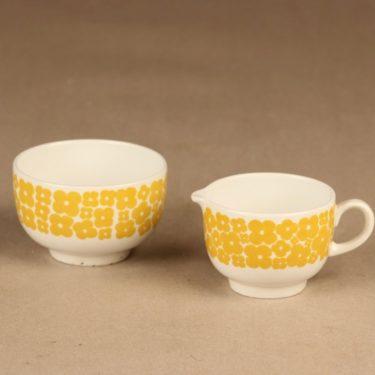 Arabia Leinikki sugar bowl and creamer designer unknown