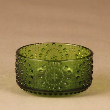 Riihimäen lasi Grapponia annoskulho, vihreä, suunnittelija Nanny Still,