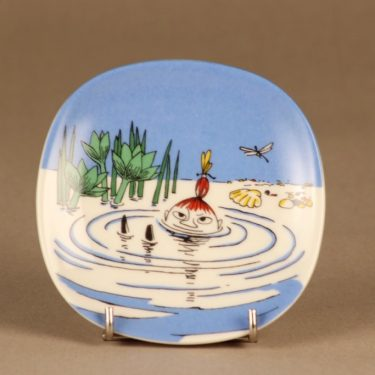 Arabia Moomin wall plate Little My swimming designer Tove Slotte