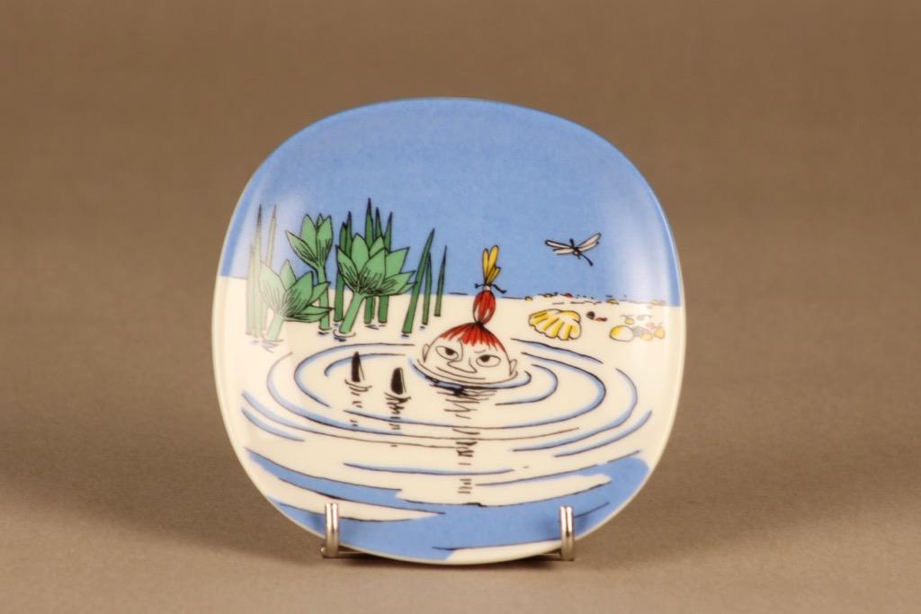 Arabia Moomin wall plate Little My swimming designer Tove Slotte