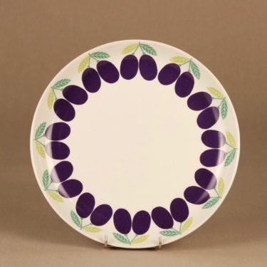 Arabia Pomona Luumu dinner plate designer Raija Uosikkinen