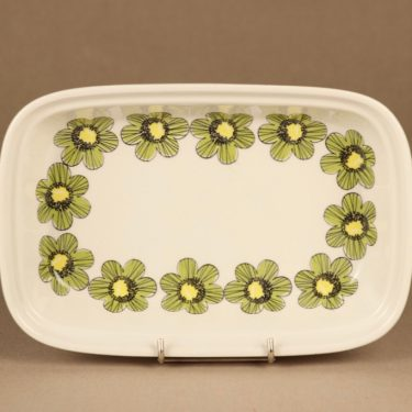 Arabia Primavera kulho, vihreä, suunnittelija Esteri Tomula, kukka, retro