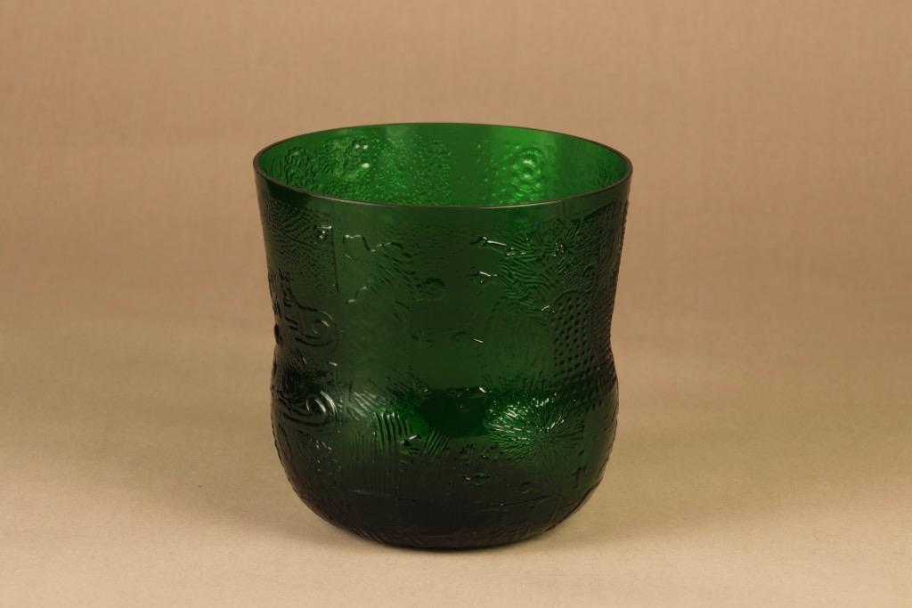 Nuutajärvi Fauna punch bowl 4 l green designer Oiva Toikka