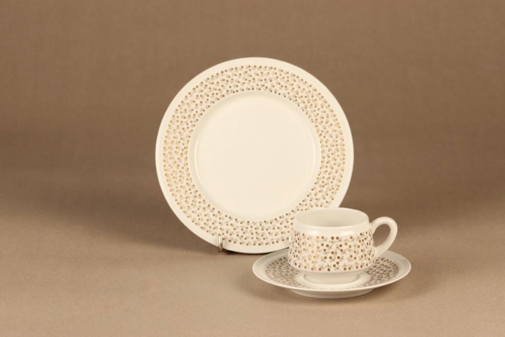 Arabia Kimmel coffee cup and plates(2) designer Esteri Tomula