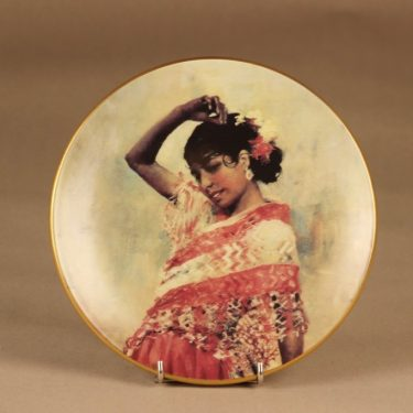 Arabia wall plate Dancing Gitana designer Albert Edelfelt