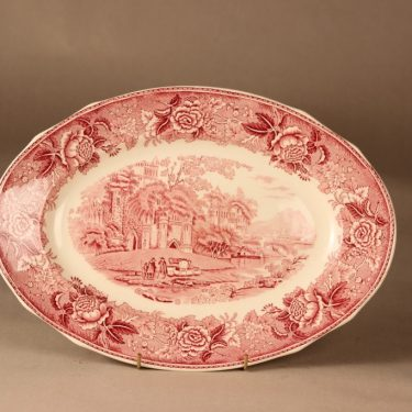 Arabia Maisema bowl, red designer unknown
