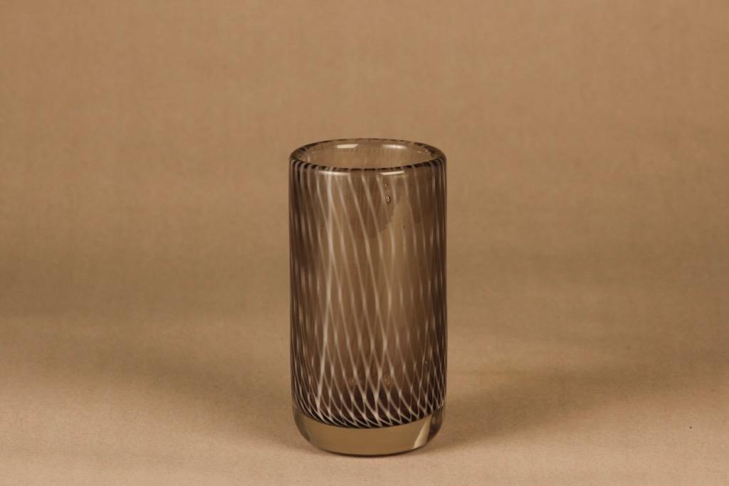 Riihimäen lasi Tohveli maljakko, filigraani, suunnittelija Nanny Still, filigraani