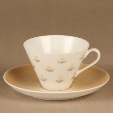 Arabia Monica kahvikuppi, käsinmaalattu, suunnittelija Esteri Tomula, käsinmaalattu, signeerattu