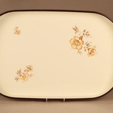 Arabia Myrna tarjotin, valkoinen, kulta, suunnittelija Olga Osol,