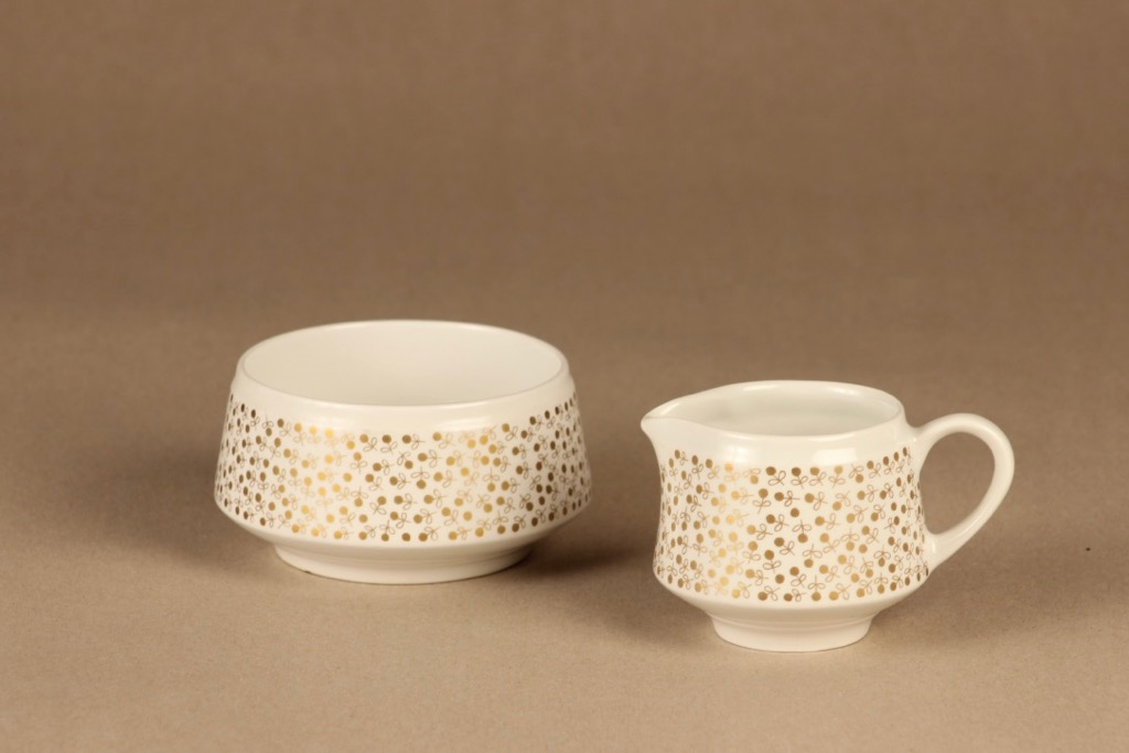 Arabia Kimmel sugar bowl and creamer designer Esteri Tomula
