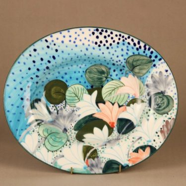 Arabia art ceramic bowl Cyklamen Persicum, hand-painted designer Dorrit von Fieandt