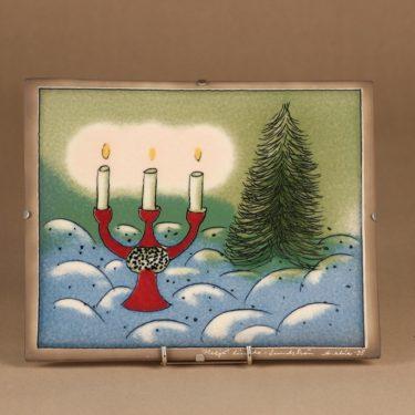 Arabia HLS wall plate Christmas limited edition designer Heljä Liukko-Sundström