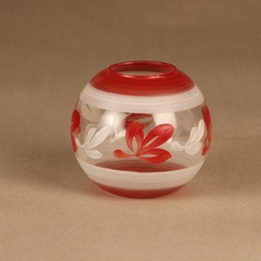 Kauklahden Lasi Oy vase, hand-painted
