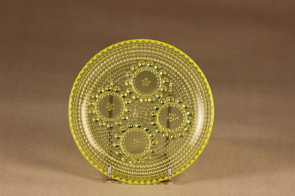 Riihimäen lasi Grapponia plate 14.5 cm designer Nanny Still