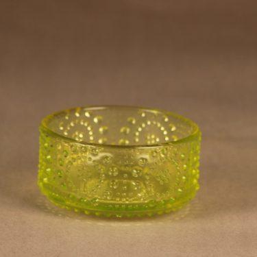Riihimäen lasi Grapponia annoskulho, keltainen, suunnittelija Nanny Still,