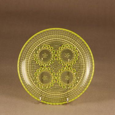 Riihimäen lasi Grapponia lautanen, 17 cm, suunnittelija Nanny Still, 17 cm