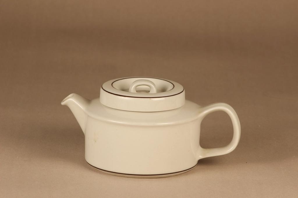 Arabia Fennica teekannu, valkoinen, suunnittelija Richard Lindh,
