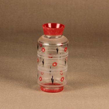 Kauklahden lasi maljakko, käsinmaalattu, suunnittelija , käsinmaalattu, käsinmaalattu