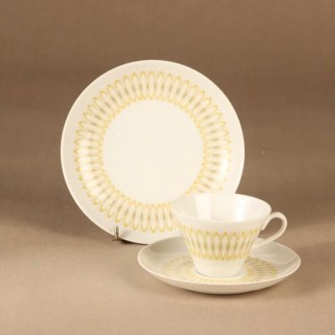 Arabia Anni coffee cup and plates (2) designer Olga Osol
