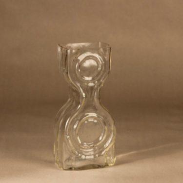 Riihimäen lasi Kaappikello maljakko, näyttelyesine, suunnittelija Helena Tynell, näyttelyesine