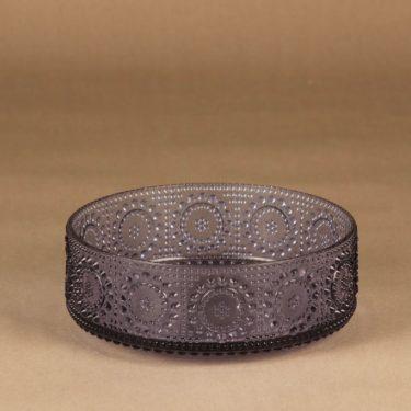 Riihimäen lasi Grapponia kulho, neodymi, suunnittelija Nanny Still,