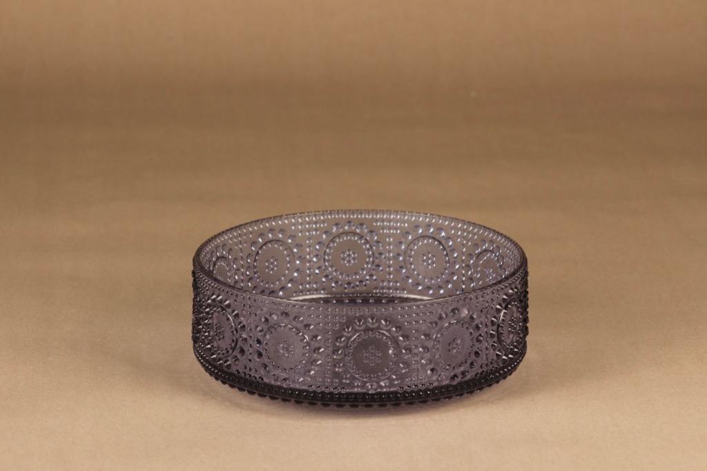 Riihimäen lasi Grapponia bowl, neodyme designer Nanny Still