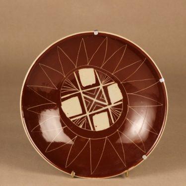 Arabia Siena bowl, hand scratched designer Raija Uosikkinen