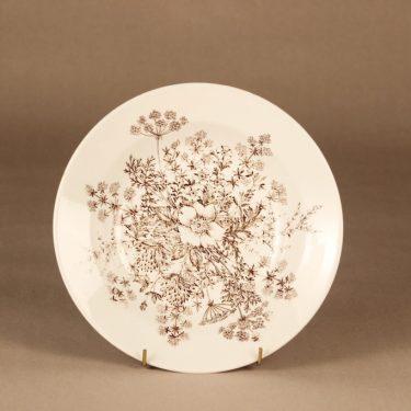 Arabia Puketti lautanen, syvä, suunnittelija Raija Uosikkinen, syvä, kukka, kuparipainokoriste