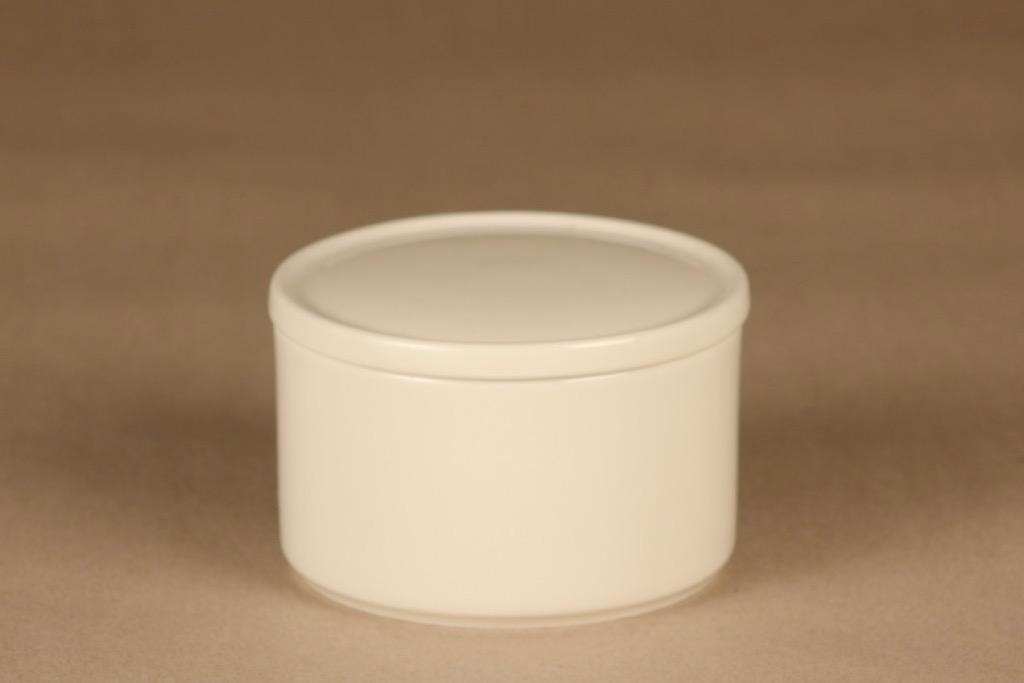 Arabia Teema jar with lid, white designer Kaj Franck