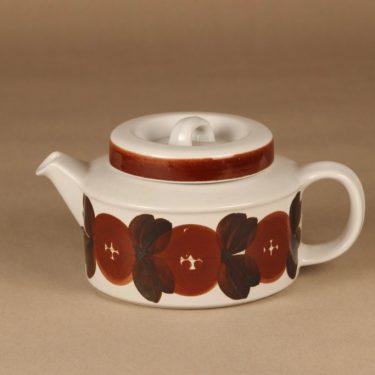 Arabia Rosmarin teekannu, käsinmaalattu, suunnittelija Ulla Procope, käsinmaalattu
