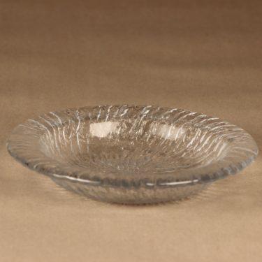 Riihimäen lasi Tupru lautanen, syvä, suunnittelija Nanny Still