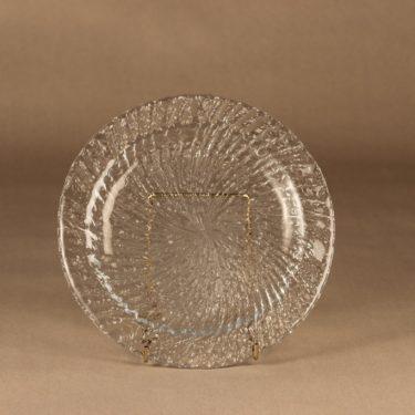 Riihimäen lasi Tupru lautanen, matala, suunnittelija Nanny Still