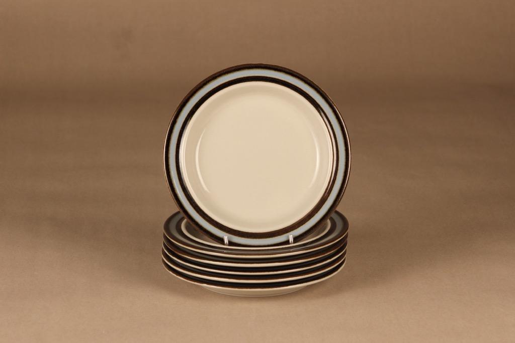 Arabia Suvanto lautanen, 17.5 cm, 6 kpl, suunnittelija Ulla Procope, 17.5 cm, raitakoriste