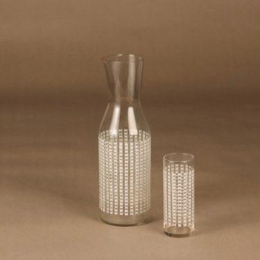 Riihimäen lasi   karahvi ja lasi,  , 2 kpl, suunnittelija Helena Tynell, ,