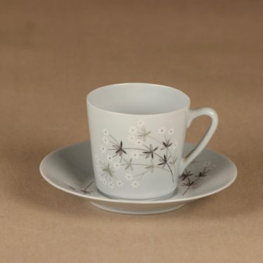 Arabia Lumikukka coffee cup, blue designer Raija Uosikkinen