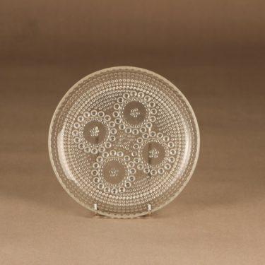 Riihimäen lasi Grapponia plate 17 cm designer Nanny Still